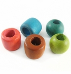 Rondelle & Tube Wood Beads (large hole)