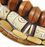 Tube, Twist , Round & Saucer Wood Beads