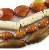 Oval, Barrel & Football Wood Beads