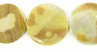 Mother Of Pearl Tiger Coin Shell Beads 20mm