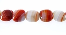 Banded Red Agate Pillow Beads
