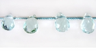 Syn. Aquamarine Glass Faceted Briolette Beads