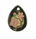 Drop Wood Pendant - Cherry Flower Design