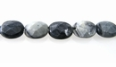 Black Picasso Jasper Oval Faceted