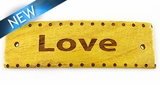 "Message Bracelet ""LOVE"" Component Nangka Wood 50mmx15mmx3mm Thick"