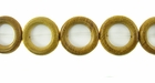 """O"" Ring  Nangka Wood Beads 28mm"