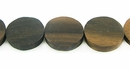 Black Ebony Wood Coin Beads 15mm (4mm thick)