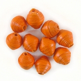 Orange Bicone Paper Beads 6-10mm