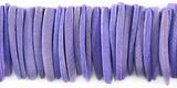 Purple Coco Tusk Beads 26-28mm