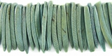 Khaki Green Coco Tusk Beads  26-28mm