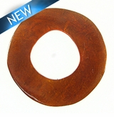 Lam. Capiz Shell Irregular Donut 50mm - Brown