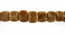 Tea Dyed Cube Bone Beads 5-6mm