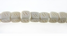 White Cube Bone Beads 5-6mm