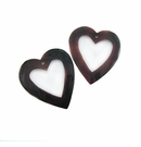 Tabshell Heart Top Center Hole 40mmx40mm