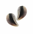 Hammershell Half Heart Design Embossed Shell Pendants 30x18mm