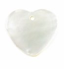Mother Of Pearl Heart Shell Pendant 32x30mm
