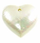 Mother of Pearl Shell Heart Pendant