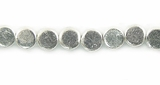 Flat Disc Silver Plated Beads 5x3mm