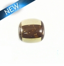 Inlaid Brown/White Coco Bead 18mm