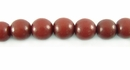 Red Buri Round Beads 8mm