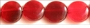 Red Horn Flat Disc Beads 10mm