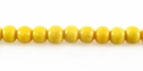 Yellow Round Limestone Coral Beads