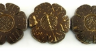 Natural Brown Coco Flower Beads 30mm