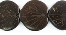 Double-Sided Brown Coco Leaf Beads