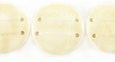 Flat Round Disc Coco Beads 30mm - Bleached White