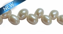 White Arrow Drill Pearl 9x12mm