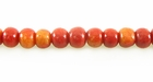 Round Limestone Apple Coral Beads