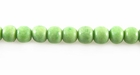 Pastel Green Round Limestone Coral Beads