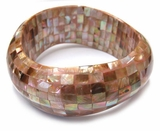Brownlip Block Wavy Bangle
