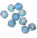 Blue Bicone Paper Beads
