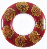 Albutra Wood Inlay Donut Red 60mm