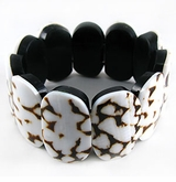 Marmurios Elastic Shell Bangle Bracelet