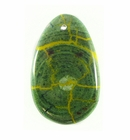 Hambabalud Wood Inlay Teardrop Green 48x31mm Cracking Design