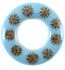 Majong-majong Seeds Inlay Donut Blue 60mm