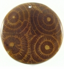 Albutra Wood Inlay Round Brown 60mm