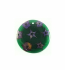 Cinderella Seeds Inlay Round Green 34mm