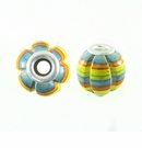 Multicolor Squash Design Wood Beads 18x17mm