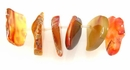 Carnelian Sliced Stone Beads 35mm