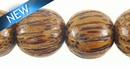 Palmwood Squash Design Wood Bead