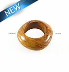 Bayong Wood  Irregular Round 34mm w/ 20mm ID