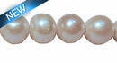 Potato Pearl Large Hole - White 11mm