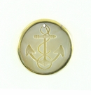 Makabibi Round Shell Anchor Etched Gold Plated Frame