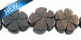 Tiger Ebony Flower  Shape 15mm