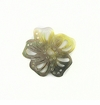 Blacklip Shell Carved Flower Design Pendant