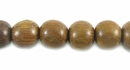 Round Robles Wood Beads 8mm