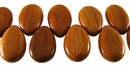 Flat Teardrop Bayong Wood Beads (side drill) 18x28mm